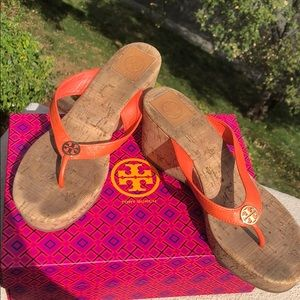 Tory Burch Suzy Wedge Sandal Size 10